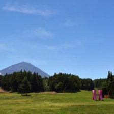 ふじてんリゾート,夏の富士山をのぞむ